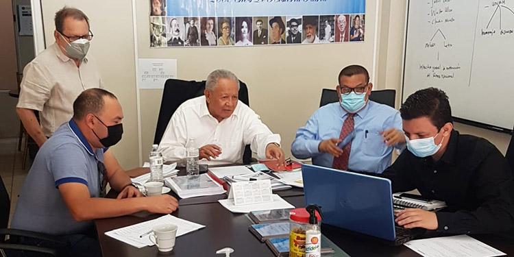 El alcalde de San Agustín, Kevin Aguilar, fue recibido por el coordinador general de la Comisión Nacional del Bicentenario, licenciado Juan Ramón Martínez.