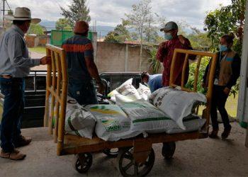 En la segunda entrega de este bono se benefició a varios cafetaleros de la comunidad de Potrerillos, Balibrea, El Achiote, Nueva Esperanza y El Pacayal.