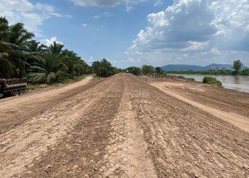 Actualmente se rehabilitan los tramos de bordo de la margen derecha del río Ulúa, desde el sector Las Minas hasta Finca 8.