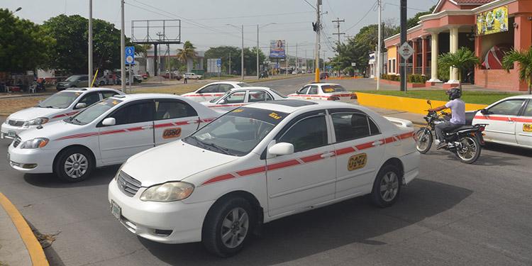 Los transportistas de taxis indicaron que el paro será el jueves desde las 6:00 de la mañana en varios puntos de la ciudad de Choluteca.