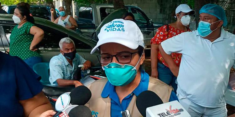 """Xiomara Sánchez (PAI Choluteca): """"Todo depende de la cantidad de vacunas que nos envíen""""."""