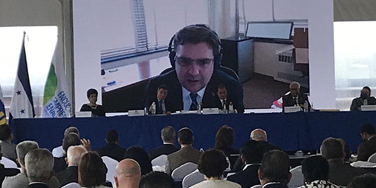 Ricardo Zúniga Harris se dirigió a los miembros de la cúpula empresarial, candidatos presidenciales y al menos, tres funcionarios del gobierno que asistieron al evento.