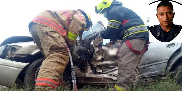 Elementos del Cuerpo de Bomberos recuperaron el cadáver del exagente policial en medio de un amasijo de hierro.