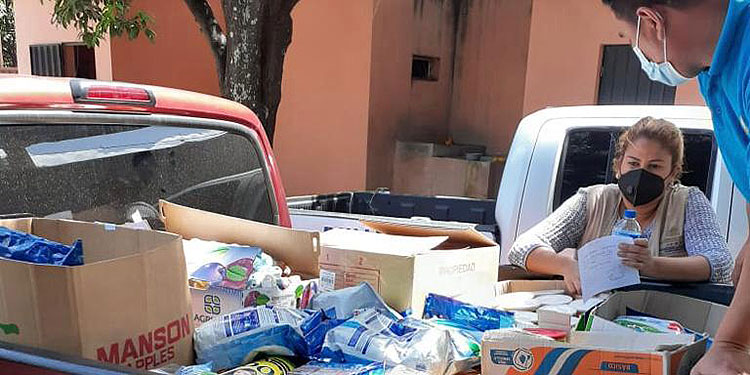 El donativo fue entregado a autoridades de la PNFAS, por la Oficina Regional Centro Oriente de la Dinaf y el Programa de Protección de Derechos.