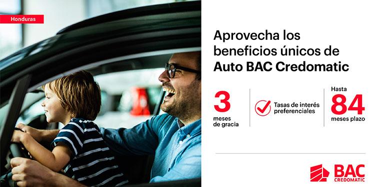Solicita tu préstamo con Auto BAC Credomatic, del 1 de junio al 31 de agosto y obtendrás increíbles beneficios.