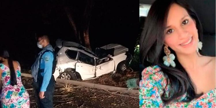 Cuando los bomberos llegaron al sitio del accidente de la camioneta, la jovencita Pamela Alejandra Hermida (foto inserta) ya había muerto.
