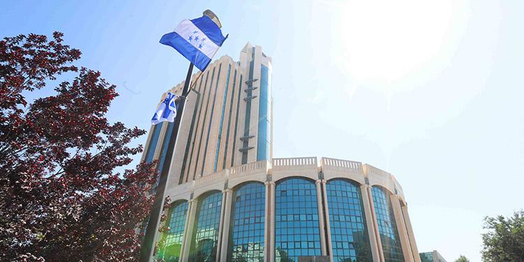 La nueva sede diplomática hondureña está ubicada en las instalaciones del Parque Tecnológico de Malha.