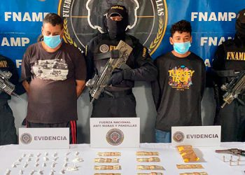 Se indicó que los detenidos exigían más de 60 mil lempiras como pago de la extorsión a comerciantes y transportistas de El Progreso, Yoro.