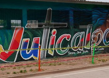 La calidez y esplendor de Juticalpa y su gente noble y trabajadora en la creatividad de un bello mural.