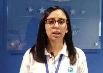 Katya Aguilar, jefa de Recaudación Vehicular.