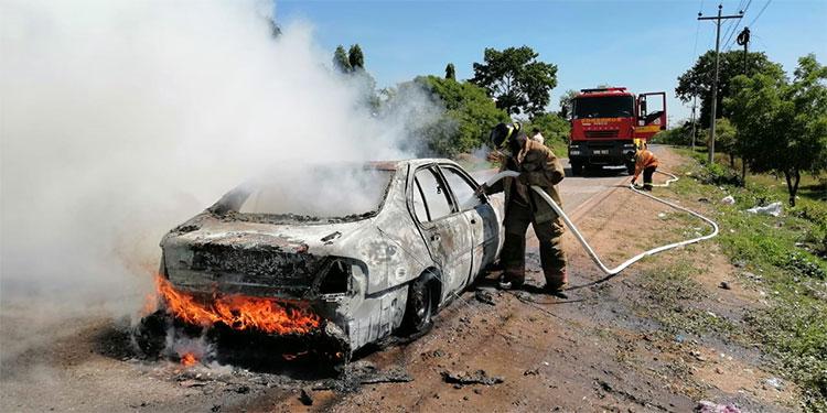 En la carretera que une los municipios de La Lima y San Manuel, Cortés, se reportó el primer siniestro vehicular.