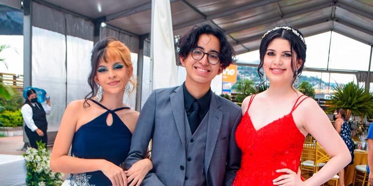 Marcela Nolasco, Jorge López, Fabiola Sabillón.