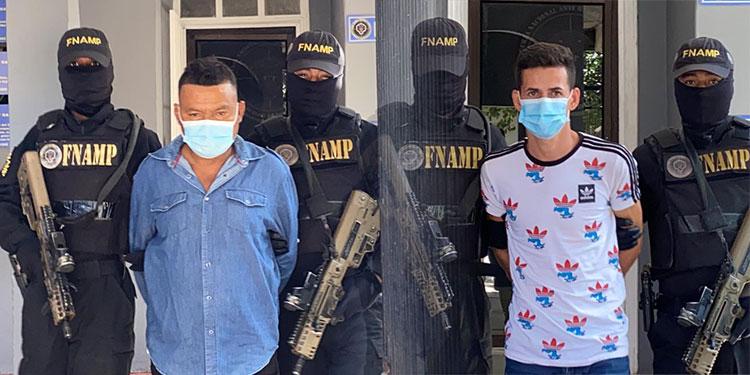 """Carlos Humberto Rodríguez Vásquez, alias """"El Motor"""" y David Antonio Fernández Mancía (23), """"Chele Harina"""", ya tienen un amplio historial delictivo según la policía."""