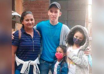 La familia secuestrada en México.