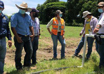 El sistema de riego por goteo para una manzana, ayudará en siembras de maíz, pastos para puedan alimentar al ganado.