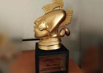 El máximo galardón que se entrega en los premios del cacao hondureño, es la estatuilla de Ek Chuaj, una deidad de la cultura Maya, considerado el dios del cacao.