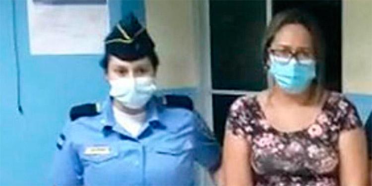 Sandy Esther Valladares Flores estará en la cárcel de mujeres de Támara, acusada por estafa.