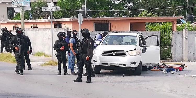 Un aparente choque entre carteles de la droga dejó nueve muertos en el municipio mexicano de Miguel Alemán, en el nororiental Estado de Tamaulipas.   (LASSERFOTO  EFE)