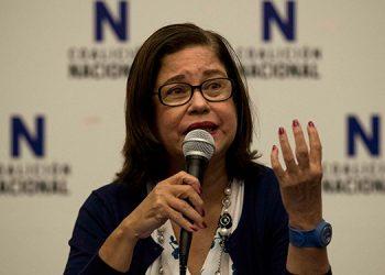 """La opositora nicaragüense Violeta Granera, que estaba presa en su domicilio acusada de pedir """"intervención militar"""" contra Nicaragua, fue trasladada """"en un vehículo no oficial"""" a un lugar aún desconocido. (LASSERFOTO  EFE)"""