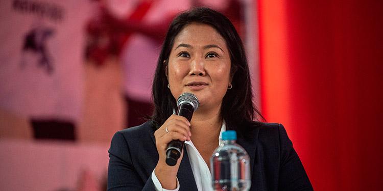 """Keiko Fujimori insistió en """"irregularidades"""" en su contra en el balotaje presidencial, mientras el jurado electoral avanza lentamente para dirimir sus pedidos de impugnación. (LASSERFOTO  AFP)"""