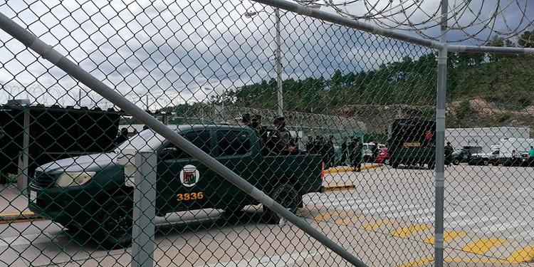 """Contingentes de la Policía Militar fueron desplazados a """"La Tolva"""" o """"El Pozo II"""", para contribuir a retomar el control en esa cárcel de máxima seguridad."""