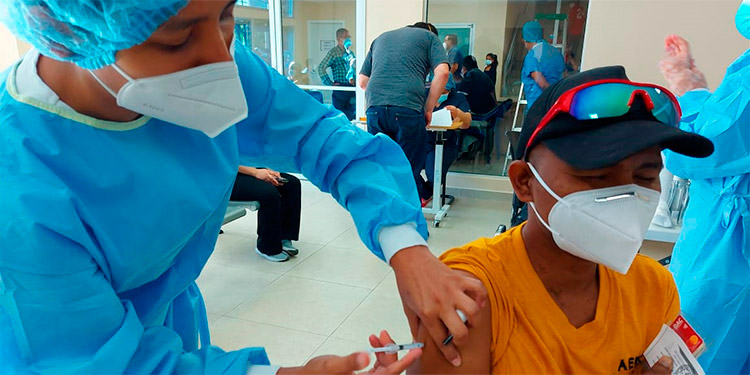 En el Distrito Central se ha aplicado un promedio de 1,500 y 2,000 vacunas diarias.