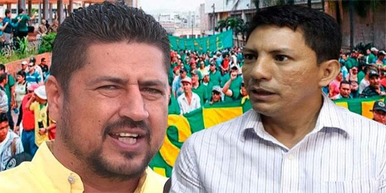"""Los dirigentes Miguel Aguilar y José Luis Matamoros se mandaron """"toques eléctricos"""" por el control del STENEE."""