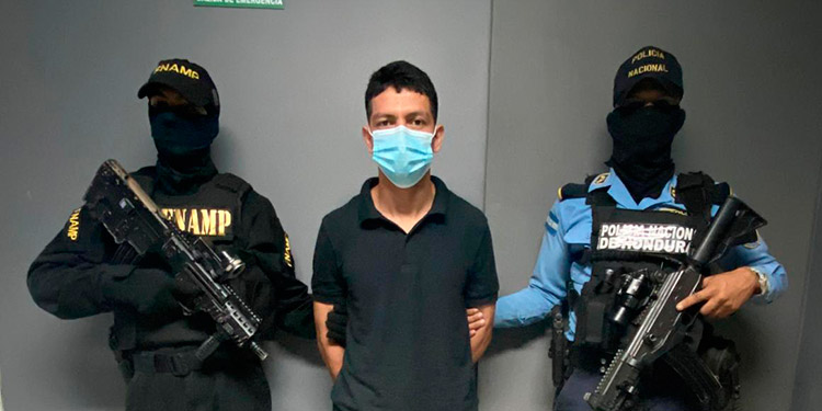 """Júnior Javier López Acosta (25), alias """"El Tumbador""""."""