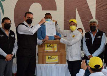EL partido Vamos, que postula como candidato presidencial a José Ramón Coto, llegó puntual.