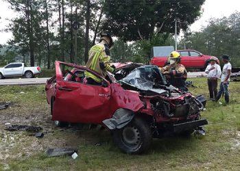En la carretera CA-5, entre Comayagua y Siguatepeque, una persona murió en un choque en el que participaron dos vehículos.