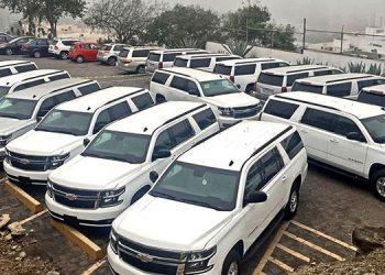 De los más de 2,000 vehículos comprados, 1,100 son motocicletas y 120 camionetas de alta gama.