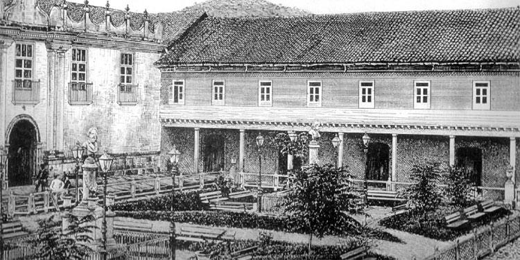 1 En éste edificio se instaló en 1880 la casa de gobierno al costado sur de la plaza La Merced