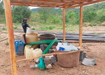 Por explotar metales sin permiso oficial en el río Guayape fueron capturados los dos hombres de origen asiático.