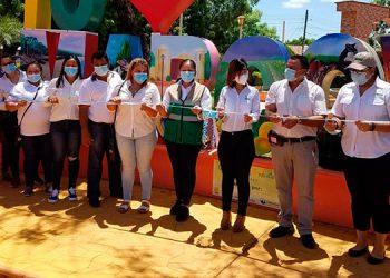 Durante el evento de inauguración de letras turística de Marcovia, el alcalde solicitó ayuda al gobierno de El Salvador en donación de dosis de vacuna.