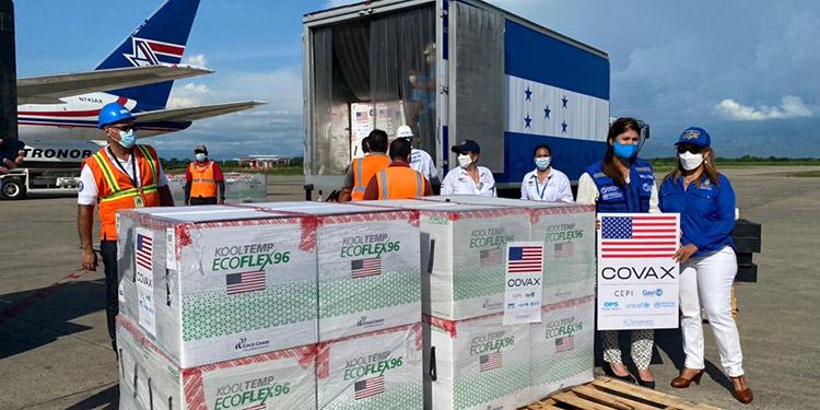 Honduras es el primer país latinoamericano que recibe una donación de vacunas dentro de las 80 millones de dosis prometidas por Biden.