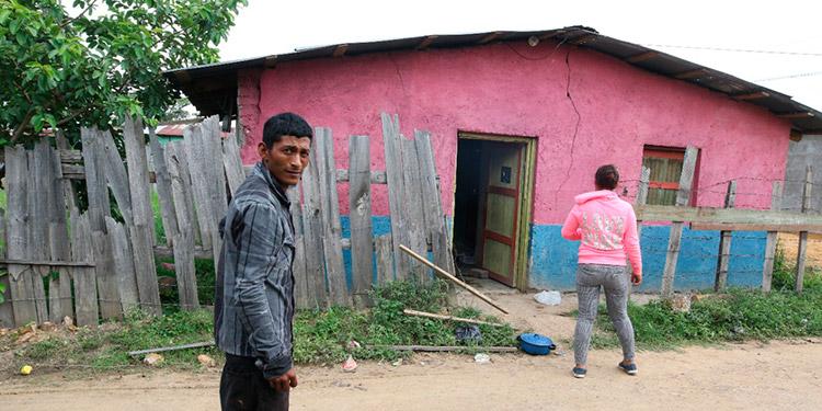 """El violento hecho entre los enamorados sucedió en esta vivienda, de la colonia """"10 de Septiembre"""", de Talanga, Francisco Morazán."""