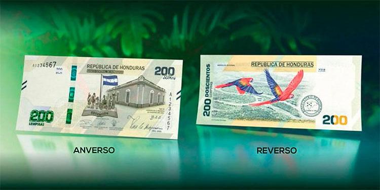 El nuevo papel moneda es alusivo al bicentenario de la independencia de Honduras que se celebrará el 15 de septiembre próximo.