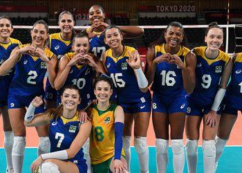 Las brasileñas son firmes candidatas al oro en voleibol.