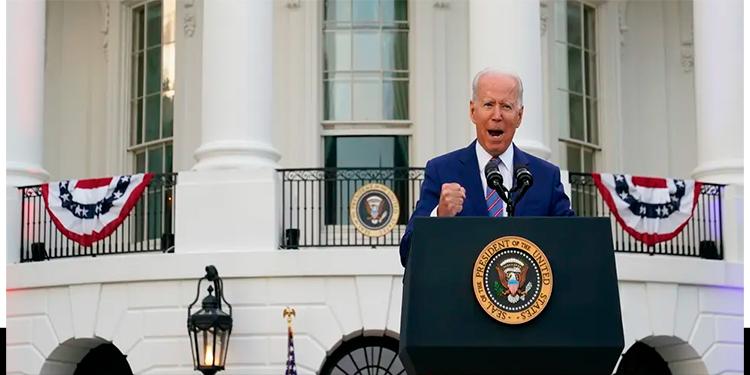 El presidente Joe Biden en la Casa Blanca en la celebración del 4 de julio.