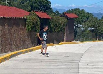 Las calles de concreto son valoradas por los pobladores de las colonias, barrios y aldeas de municipios de Francisco Morazán.