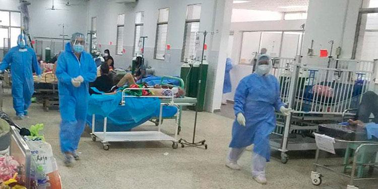 Hasta ayer se reportaban 71 personas ingresadas por COVID-19 en el Hospital General del Sur (HGS), en la ciudad de Choluteca.
