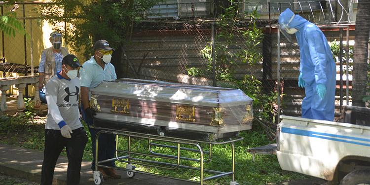 Durante el año han fallecido 151 personas por COVID-19 en el sureño departamento de Choluteca.