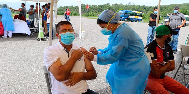 Durante la V Campaña de Vacunación anticovid, la Sesal y el IHTT logran la inoculación de trabajadores del transporte urbano en varias ciudades.