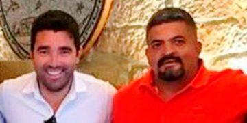 Deco y el presidente del Vida, Luis Cruz.