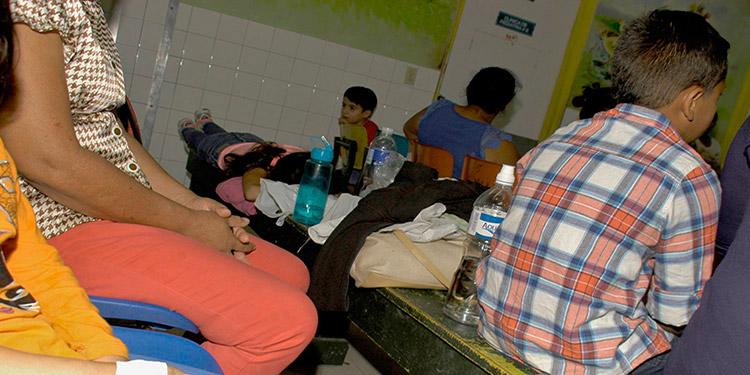 Los menores internos en el Hospital Escuela, por dengue, son originarios del Distrito Central.