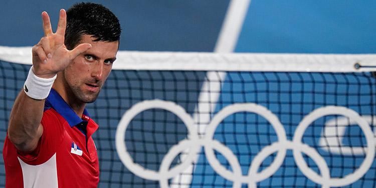 Novak Djokovic a punto de hacer historia en los Juegos Olímpicos.