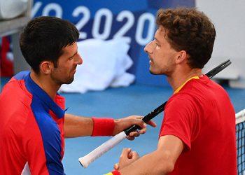 El español Carreño le ganó la medalla de bronce al número uno del mundo en tenis, Djokovic.