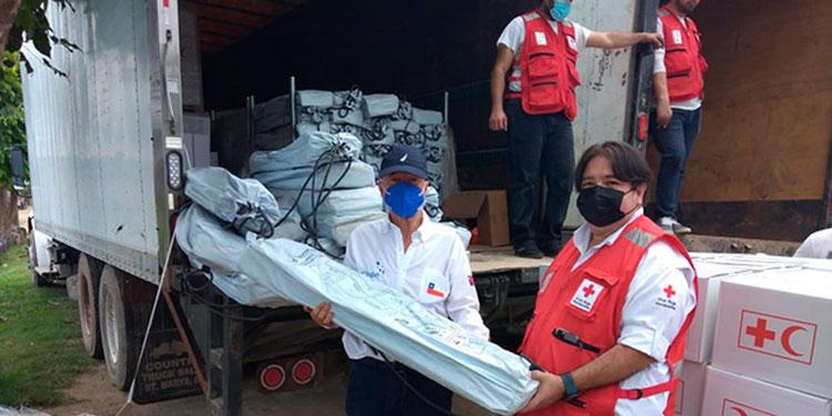 El embajador de Chile visitó la comunidad de Protección, en Choloma, afectada por las tormentas tropicales.