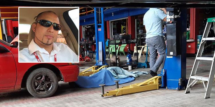 Testigos indicaron que el victimario del joven empresario Javier Varela Rubí (foto inserta) llegó a pie al negocio para ejecutar el crimen.