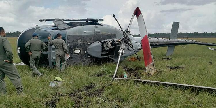 Milagrosamente en el accidentado aterrizaje no se reportaron pérdidas de vidas humanas, solo un tripulante sufrió lesiones considerables y pérdidas materiales.